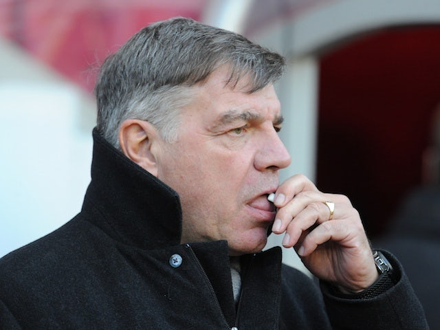 West Ham manager Sam Allardyce on the touchline against Sunderland on January 12, 2013
