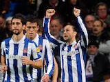 Espanyol's Sergio Garcia celebrates his goal on December 16, 2012