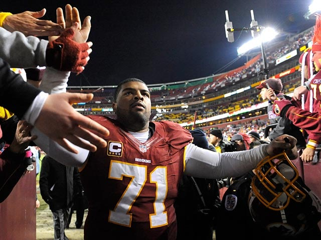 Washington Redskins' Trent Williams on December 30, 2012