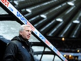 Toon Army boss Alan Pardew on the touchline before the game with Reading on January 19, 2013