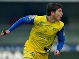 Chievo's Alberto Paloschi celebrates scoring the equaliser against Parma on January 20, 2013