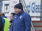 Rangers boss Ally McCoist on the touchline during the match against Peterhead on January 20, 2013