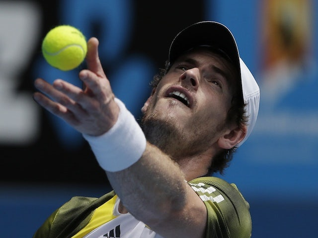 Great Britain's Andy Murray in action in the second round against Joao Sousa on January 17, 2013