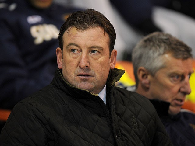 Blackpool caretaker manager Steve Thompson before his sides FA Cup replay on January 15, 2013