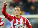 Sunderland's Craig Gardener celebrates his penalty equaliser against Wigan on January 19, 2013