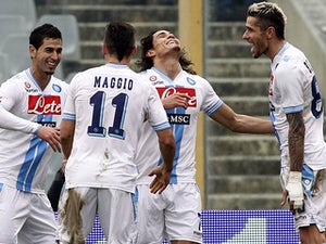Result: Cavani rescues a point for Napoli