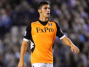 Fulham player Marcello Trotta during his sides match with Sheffield Wednesday on August 28, 2012