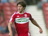 Middlesbrough's George Friend during their Championship match with Leicester on September 29, 2012