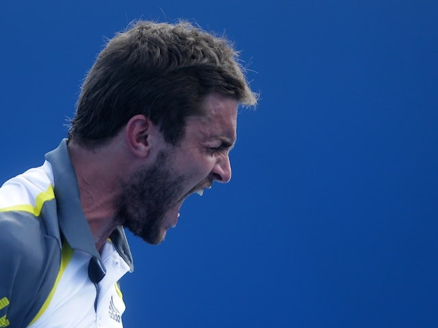 Frenchman Gilles Simon in action during the second round of the Australian Open on January 17, 2013