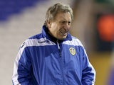 Leeds United manager Neil Warnock ahead of his sides FA Cup third round replay on January 15, 2013