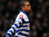 New QPR striker Loic Remy celebrates his debut goal at West Ham on January 19, 2013