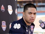 Notre Dame linebacker Manti T'eo at a Media Day on January 5, 2013