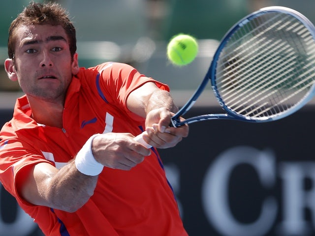 Croatian Marian Cilic in second round action at the Australian Open on January 17, 2013