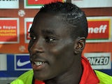 Massadio Haidara of AS Nancy Lorraine at a press conference ahead of their match with Montpellier on October 29, 2011