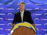 The San Diego Chargers unveil new coach Mike McCoy at a press conference on January 15, 2013