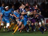 Newport Gwent Dragon's Toby Faletau during his sides match against London Wasps on January 17, 2013