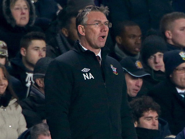 Southampton manager Nigel Atkins on the touchline against Chelsea on January 16, 2013
