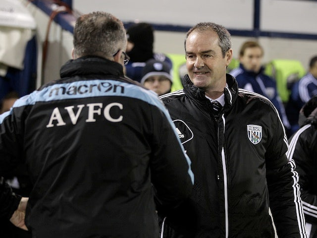 Opposing managers Paul Lambert & Steve Clarke shake hands before kick-off between Villa and West Brom on January 19, 2013