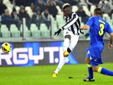 Juventus' Paul Pogba fires in a long-range effort against Udinese on January 19, 2013