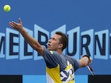 Germany's Philipp Kohlschreiber in second round action on January 17, 2013