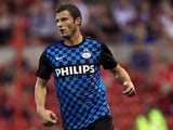 PSV Eindhoven player Erik Pieters during his sides friendly with Nottingham Forest on July 27, 2011