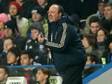 Chelsea interim manager Rafa Benitez on the touchline against Southampton on January 16, 2013