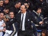 Chelsea interim manager Rafa Benitez on the touchline against Arsenal on January 20, 2013