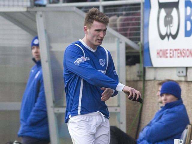 Peterhead's Rory McAllister leaves the field after being sent off in the match against Rangers on January 20, 2013