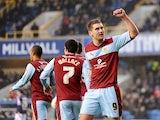 Burnley striker Sam Vokes celebrates a goal versus Millwall on January 19, 2013