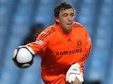 Chelsea goalkeeper Sam Walker with the ball on April 29, 2010