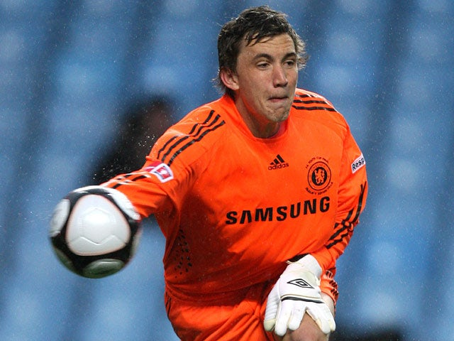 Chelsea goalkeeper Sam Walker with the ball on April 29, 2010