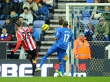 Sunderland forward Steven Fletcher scores against Wigan on January 19, 2013
