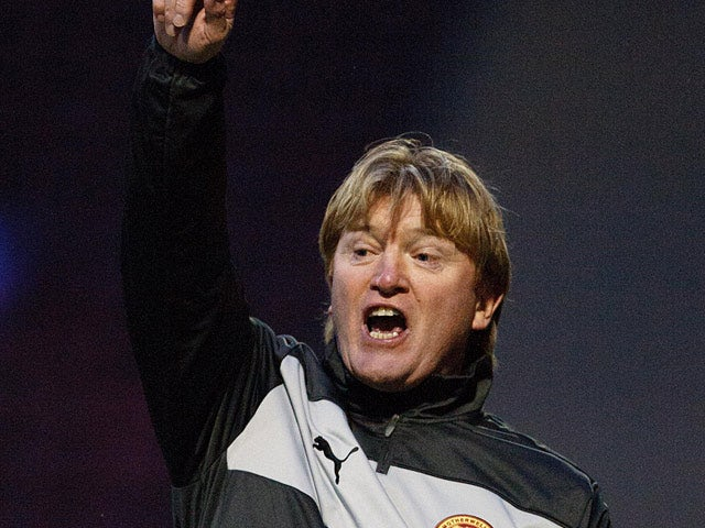 Motherwell manager Stuart McCall gestures to his players in the match against St Johnstone on January 20, 2013