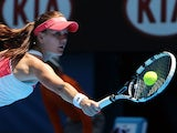 Poland's Agnieszka Radwanska stretches for the ball in her second round match at the Australian Open tennis championship on January 16, 2013