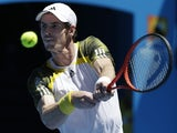 Britain's Andy Murray returns a shot during his first round clash with Robin Haase at the Australian Open tennis championship on January 15, 2013