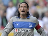 Hoffenheim goalkeeper Tim Wiese on August 25, 2012