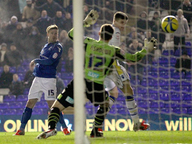Wade Elliot scores for Birmingham City in their FA Cup match against Leeds United on January 15, 2013