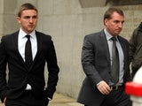 Anton Rodgers and Brendan Rodgers at court on January 22, 2013