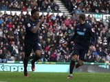 Blackburn Rovers' Colin Kazim-Richards celebrates scoring his sides first goal against Derby Country on January 26, 2013