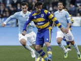 Parma defender Cristian Zaccardo during his sides match against Lazio on December 2, 2012