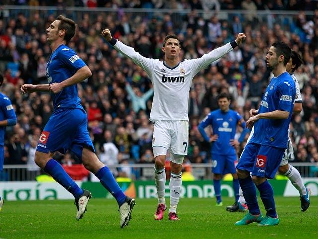 Real Madrid Vs Getafe La Liga 2013 Brilliant Second: Result: Cristiano Ronaldo Hat-trick Downs Getafe