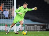 MK Dons goalie David Martin, in action against Sheffield Wednesday on January 15, 2013
