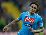 Napoi's Edison Cavani celebrates his goal against Parma on January 27, 2013