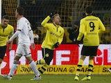 Dortmund's Jakub Blaszczykowski celebrates a goal against Nuremberg on January 25, 2013