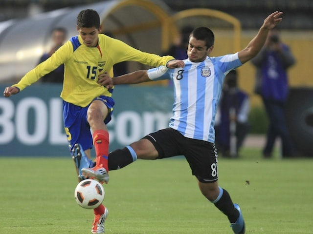 Ecuador's Jose Francisco Cevallos in under-17 action against Argentina on April 6, 2011