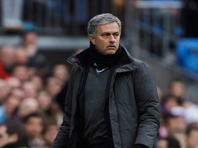 Real Madrid boss Jose Mourinho on the touchline against Getafe on January 27, 2013