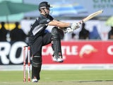 NZ's Kane Williamson drives a shot against South Africa in a one-day international on January 22, 2013