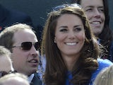 Kate Middleton watches Andy Murray in action during the quarterfinal match of the Men's Singles on August 2, 2012