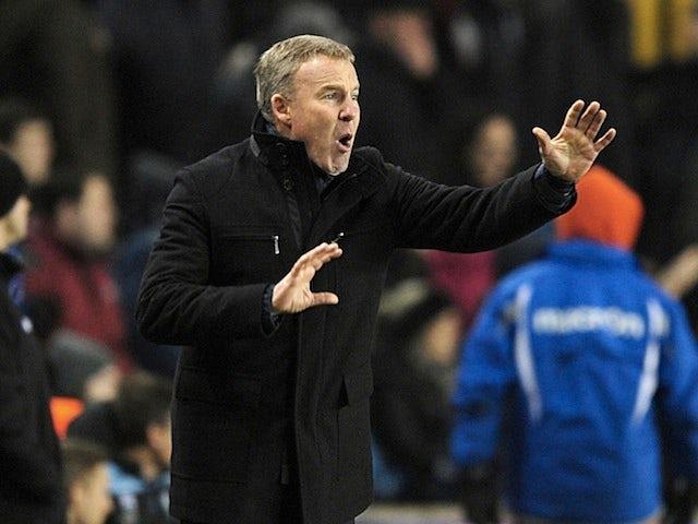 Millwall boss Kenny Jackett on the touchline against Aston Villa on January 25, 2013