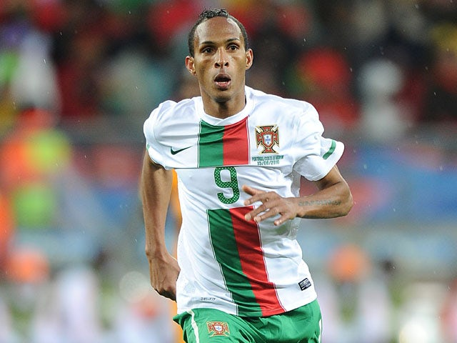 Portugal player Liedson during his sides FIFA World Cup match with Ivory Coast on June 15, 2010